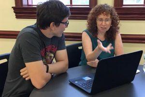 College Advisor Bonnie R. Rabin with a client